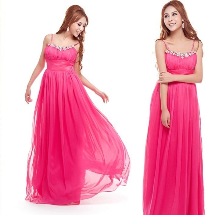 E7267 wedding ultra long skirt bridesmaid evening dress evening dress one-piece dress plus size available(China (Mainland))