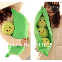 New Arrival High Quality Pea plush doll Super Cute Little Peas Stuffed Plush Doll 3 Peas in a Pod Pea Toy Free Shipping FC12073