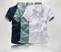 Summer clothes casual men's clothing shirt male short-sleeve shirt short-sleeve shirt slim male