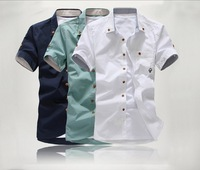 Summer clothes casual men's clothing shirt male short-sleeve shirt short-sleeve shirt slim male
