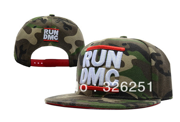 2013 HOT NEW RUN DMC Snapback Camo Hip Hop Baseball Adjustable Snapback Cap&Hat(China (Mainland))