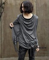 2011 new Korean men's fashion men's T-shirt irregular alternative fake two non-mainstream T-shirt with long sleeves