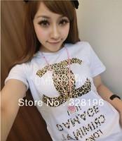 Leopard Cotton Women T-shirt
