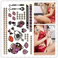 lip tattoo sticker  glitter tattoo stencils  tattoo temporary