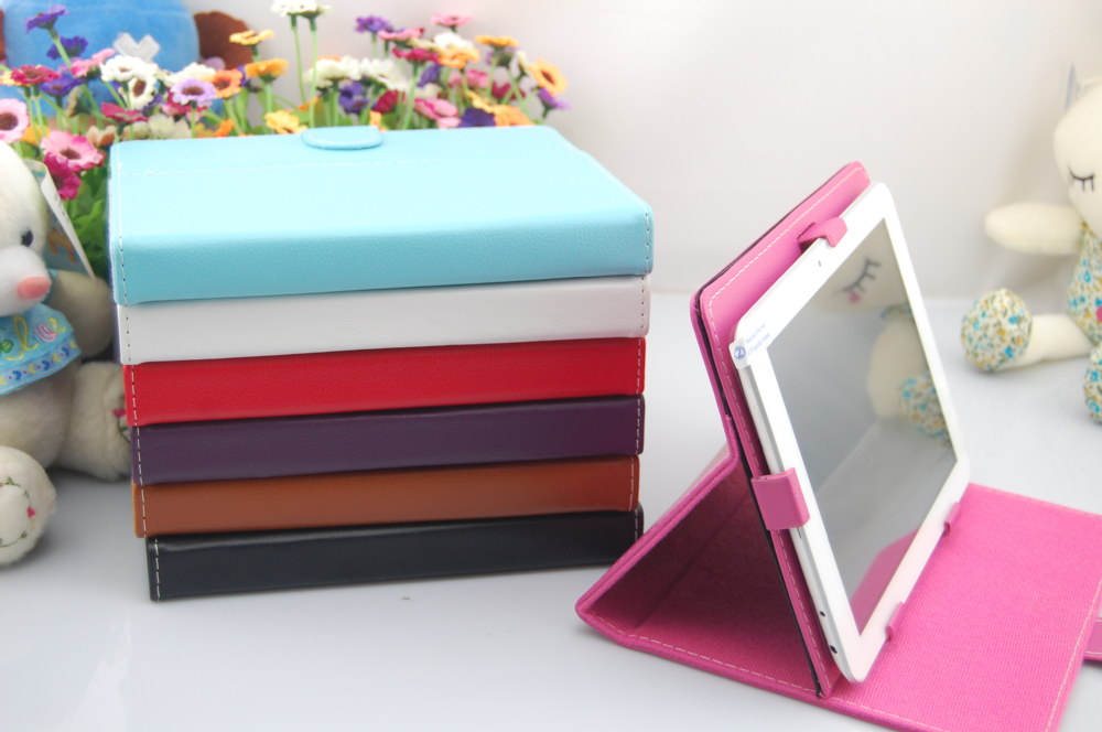 "6pcs/Lot Wholesale 7 Colors Foilo PU Leather Case Cover For 9.7 "" Tablet PC For Onda Cube Ampe Vido Teclast Ramos Free Shipping(China (Mainland))"