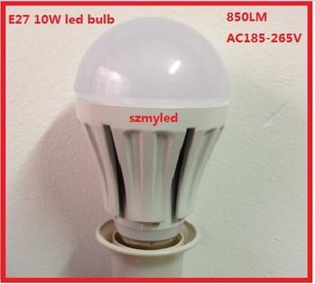 10pcs SMD 10W led bulb light  E27 led bulb lamp cool white 6500K AC185-265V 850LM led light very bright free shipping FED