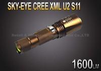 5PCS/LOT SKY-EYE CREE XML T6  7-Mode 1600 Lumen 18650 LED Zoomable Flashlight Torch S11