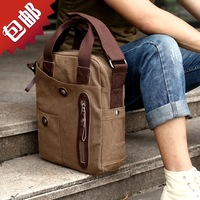 2014 handbag male canvas man shoulder  messenger bag travel casual bags male