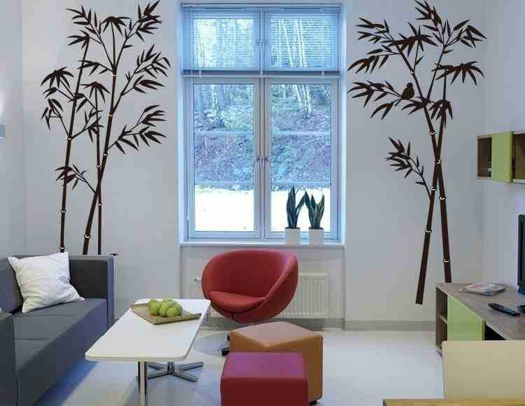 Bamboo Mural Home Decor Decals decorative Removable Craft Wall Stickers FASHION(China (Mainland))