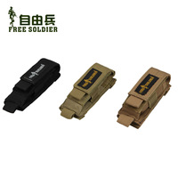 Free soldier fs-b17 MOLLE POUCH Multifunctional Accessories Tactical Small Bag Color:Black/Coyote Brown/Mud 12CM*5CM 1000D Nylon