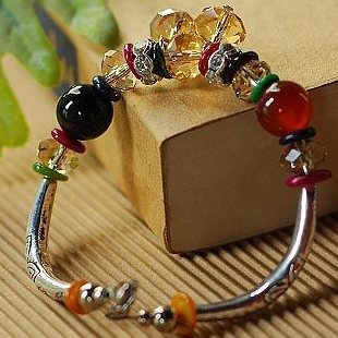 Hot-selling multi element mix match diy handmade tibetan agate crystal bracelet(China (Mainland))