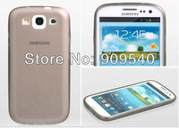 500 pcs NEW 0.2 mm ULTRA THIN BACK CASE COVER FOR samsung galaxy s3 i9300 Cell phone+ free shippin