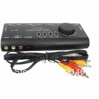 Av-109 compound audio and video converter 4 1 av switch s terminal