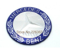 Mercedes Benz  logo Crystal Car Steering Wheel Badge Emblem Sticker 52mm Free shipping