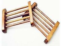 Free Fedex Shipping Natural Wooden Wood Dowel Soap Saver Dish Rack Deck Wholesale Dropship