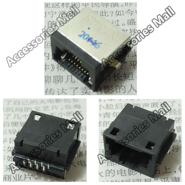 Free Shipping Laptop RJ45 Jack/Network interface cards/Ethernet port/LAN Port with light for DELL 14V N4020 N4030 M4010(China (Mainland))