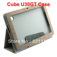 Flip and Folder Original Stand Leather Case for Cube U30GT 10.1 inch Tablet PC - Taupe brown Color