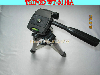 Free shipping WEIFENG WT3110A Tripod With 3-Way HeadTripod for Nikon D7000 D80 D90 D3100 DSLR Sony NEX-5N Canon 650D 60D 600D