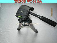 Free shipping WEIFENG WT3110A Tripod With 3-Way HeadTripod for Nikon D7000 D80 D90 D3100 DSLR Sony NEX-5N Canon 650D 60D 600D