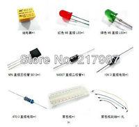 10pcs NPN 9013 triode +10pcs N4007 diode +1pcs MB102 Breadboard + 65pcs jumper + Relay + LED +ect.  for arduino kit start kits