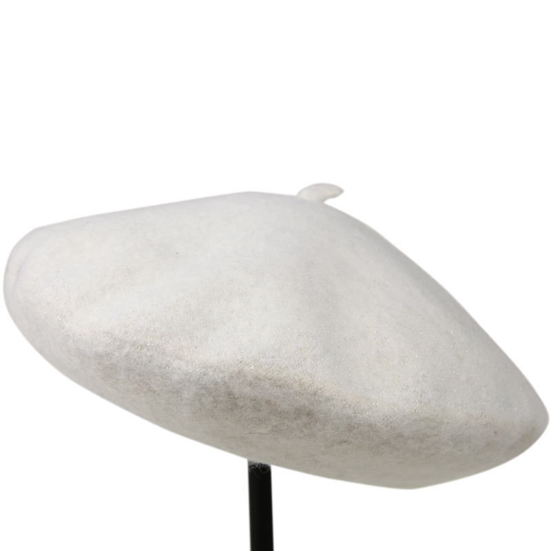 Millinery pure woolen clip golden autumn and winter beret casual thermal painter hat(China (Mainland))