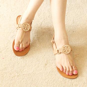 Women's shoes lambdoid flip sandals 2012 flower cutout buckle decoration flat sandals female shoes