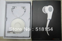 "1pcs ""L"" plug 3.5MM In-ear earphone headphone with control talk for toured for iphones   ,ipods + retail box Factory Sealed"