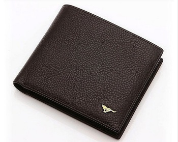Stylish leather wallet first layer of leather men's leather wallet free shipping