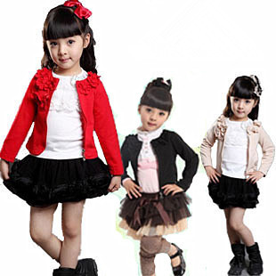 Free shipping Girls clothing child long-sleeve sweater zipper cardigan spring 2013 baby outerwear Wholesale and retail(China (Mainland))