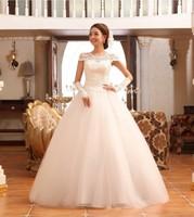 2012 new arrival wedding dress formal dress quality lace vintage bag slit neckline straps royal wedding dress