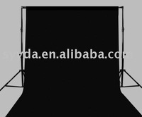 Photo Studio Equipment 2.6*3m Background Support Stand+3*6m Black Muslin Background Cloth