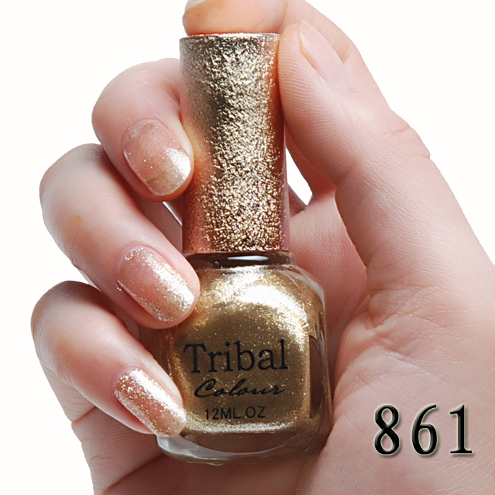 2 bottle tribal rose essential oil eco-friendly solid color nail polish oil heavy metal gold m861(China (Mainland))
