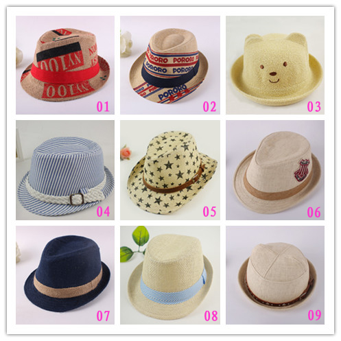 Free shipping!2013 fashion children spring hats/baby summer caps/kid's winter hats/gentlement Fedoras/knitted hats/sun hats(China (Mainland))