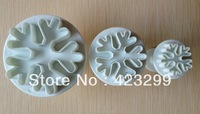Free shipping 3PCS snowflake shape mold sugar Arts set Fondant Cake tools/cookie cutters