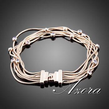 Азора семь катушки 18 К роуз позолоченные Stellux австрийский хрусталь браслеты ювелирные изделия TS0026