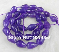 NEW 8x12mm Faceted Russican Amethyst Drop Loose Beads 15'' Fashion jewelry