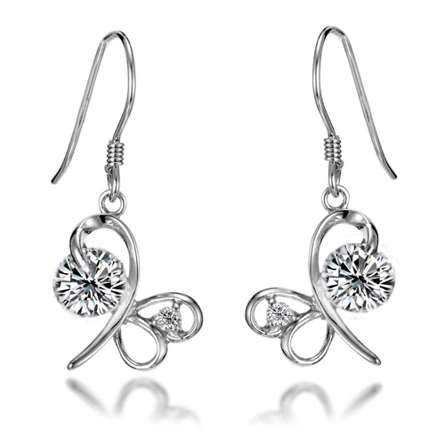 Free shipping 925 pure silver earrings dragonfly earrings silver earring the wedding silver jewelry female anti-allergic(China (Mainland))