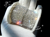 888 clear crystal rhinestone close chain trims silver SS12 3mm 10 yard  trims for dresses