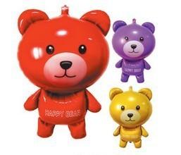 Free Shipping  Lovely aluminium film balloon king-size teddy bear  5pcs/lot