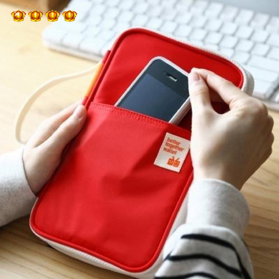 b5 4779 multifunctional solid color storage bag of bill bank card bag cosmetic bag wash bag(China (Mainland))