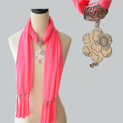 Scarf,6 Totem Flower,Silver Color Accessories,16 Colors,180*40cm,Free Shipping Wholesale(China (Mainland))