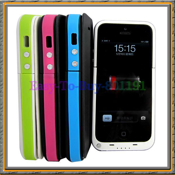 Flip Cover Case for iPhone 5 5G 3200mAh Portable Power Bank Rechargeable Battery(China (Mainland))