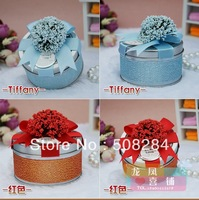 2013 fashion design candy box candy tin box round tin candy box