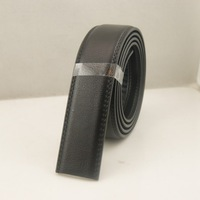 Men's automatic buckle leather belt two layer leather no buckle body without a head belt