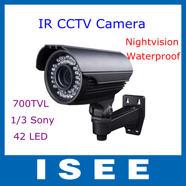 "700TVL 1/3"" Sony Effio CCD 2.8-12mm IR Outdoor Nightvision CCTV Security Camera Free Shipping(China (Mainland))"