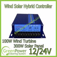 Wind Solar Hybrid System Charge Controller for 100W wind turbine+150W/12V Solar Panel(300W/24V) Max 400W