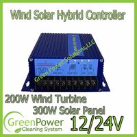 Wind Solar Hybrid System Controller for 200W wind turbine+150W/12V Solar Panel(300W/24V)