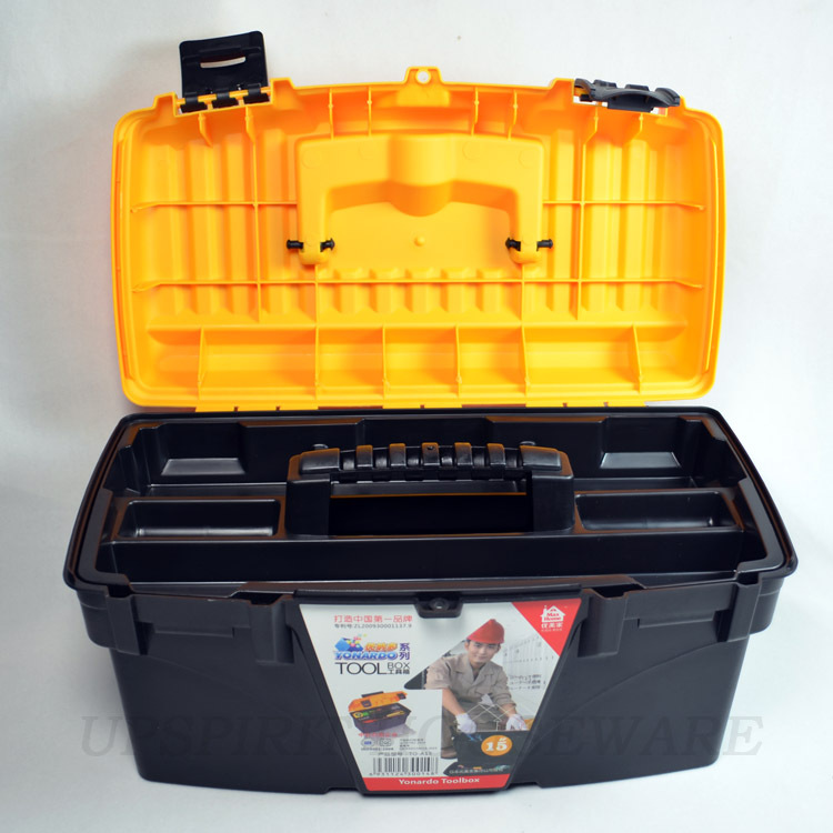 "multi function 15"" max home plastic pp tool storage box tool cabinet chest case workbox households(China (Mainland))"