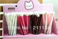 Free Shipping ! 48PCS/Lot , Korean Stationary Wholesale Cute Cat Gel Pen / Ball Pen / Ballpoint Pen / Ink Pen