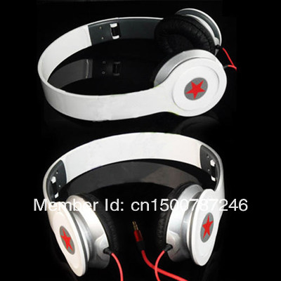 Red 3.5mm Stereo Foldable Wired Headphone Headset Earphone Earbuds For PC MP3 MP4 iPhone(China (Mainland))